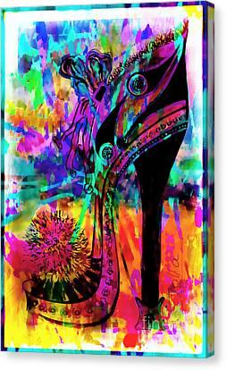 High Heel Heaven Abstract Canvas Print by Jolanta Anna Karolska