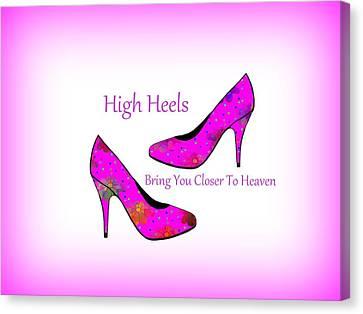 Dressing Room Canvas Print - High Heel Heaven by Kathleen Sartoris