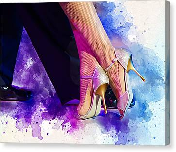 Dance Canvas Print - High Heels by Elzbieta Petryka