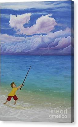 Canvas Print featuring the painting High Hopes by Cindy Lee Longhini