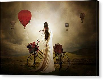Hot Air Canvas Print - High Hopes by Shanina Conway