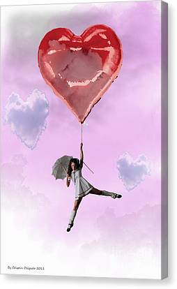 High In Love Canvas Print by Crispin  Delgado