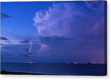 Summer Thunderstorm Canvas Print - High Intensity by Marvin Spates