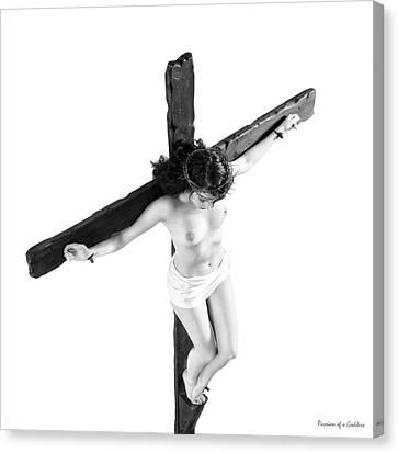 High Key Female Crucifix Canvas Print