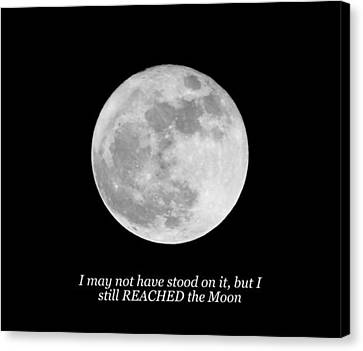 High Moon Canvas Print by Maria  Wall