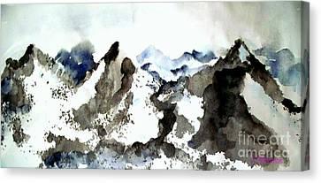 High Mountain Peaks Canvas Print by Carol Grimes