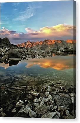 High Mountain Sunset Canvas Print by Leland D Howard