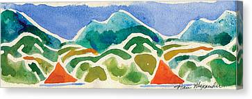 High Mountains And Meadows Canvas Print by Annie Alexander