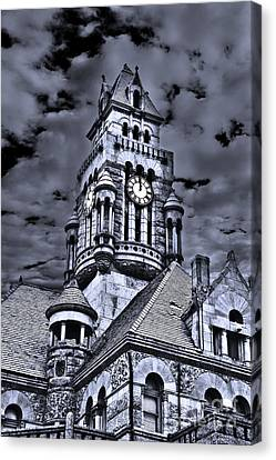 High Noon Black And White Canvas Print by Tamyra Ayles