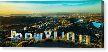 Yellow Building Canvas Print - High On Hollywood by Az Jackson