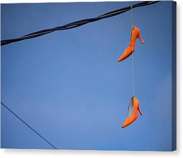 High On Orange Canvas Print