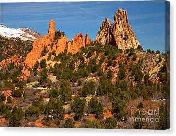 Canvas Print featuring the photograph High Point Rock Towers by Adam Jewell