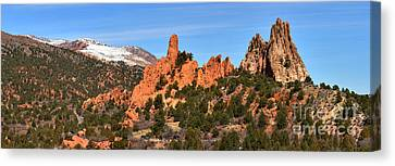Canvas Print featuring the photograph High Point View by Adam Jewell