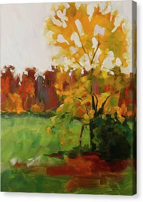 High Ridge Downpour Canvas Print by Barbara Jones