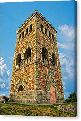 High Rock Tower Canvas Print by Anthony Dezenzio