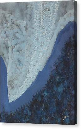 High Rockies Original Painting Canvas Print