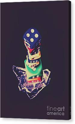 Bet Canvas Print - High Roller Luck by Jorgo Photography - Wall Art Gallery
