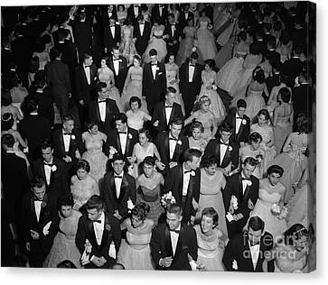 High School Prom, C.1950s Canvas Print by H. Armstrong Roberts/ClassicStock