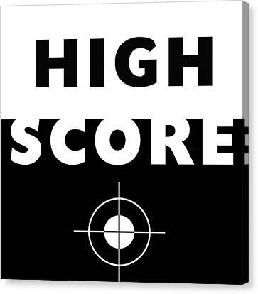 High Score- Art By Linda Woods Canvas Print by Linda Woods