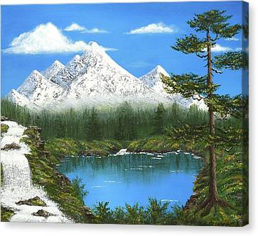 Bob Ross Canvas Print - High Sierras Lake by Larysa Kalynovska