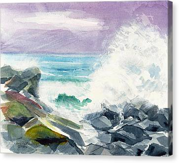 High Surf Canvas Print by Joan Hartenstein