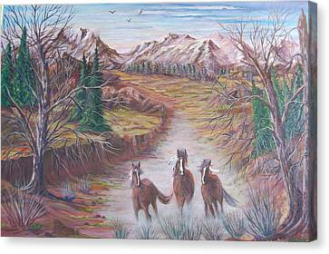 High Tailin It Canvas Print by Janna Columbus