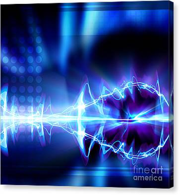 High Tech Background Canvas Print by Daniel Brunner