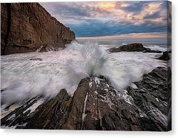 High Tide At Bald Head Cliff Canvas Print by Rick Berk