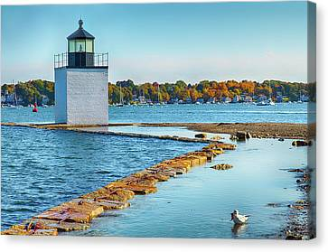 Canvas Print featuring the photograph High Tide At Derby Wharf In Salem by Jeff Folger