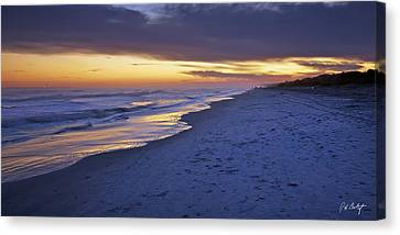 High Tide In Fading Light Canvas Print by Phill Doherty