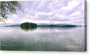 High Tide - Low Clouds Canvas Print by Sean Griffin