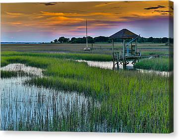 High Tide On The Creek - Mt. Pleasant Sc Canvas Print