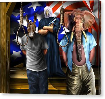 High Treason - State Of The Union-a House Divided1 Canvas Print by Reggie Duffie