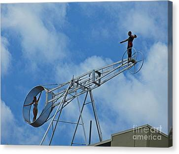 Rooftop Canvas Print - High Up by Crystal Loppie