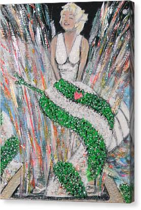 High Up On A Pedestal Canvas Print by Becky Jenney