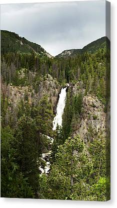 Canvas Print featuring the photograph High Water At Fish Creek Falls by Daniel Hebard