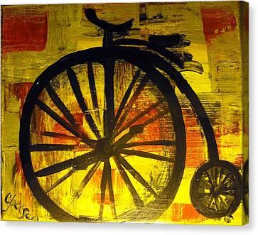 High Wheel Canvas Print