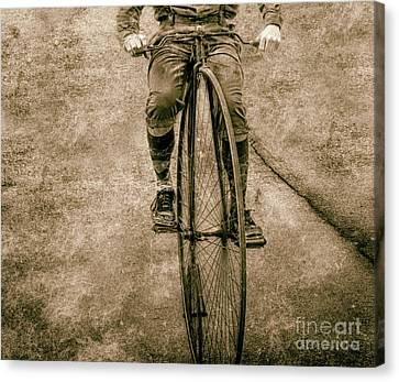 High Wheeling In Vintage Time  Canvas Print by Steven Digman