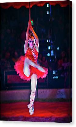 Canvas Print - High Wire In Red by Ron Morecraft