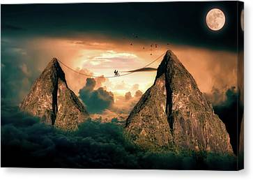High Wire My Moonlight Canvas Print