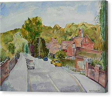 Canvas Print featuring the painting High Wycombe by Geeta Biswas