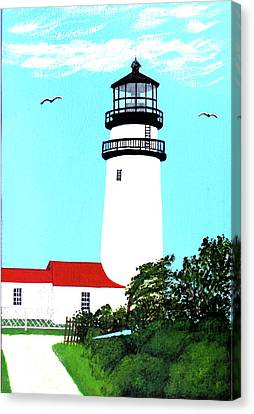 Highland - Cc - Lighthouse Painting Canvas Print by Frederic Kohli