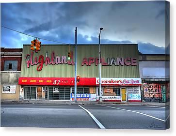 Highland Appliance Superstore Canvas Print by Gordon Dean II
