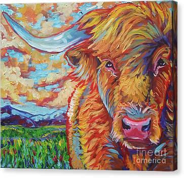 Highland Breeze Canvas Print by Jenn Cunningham