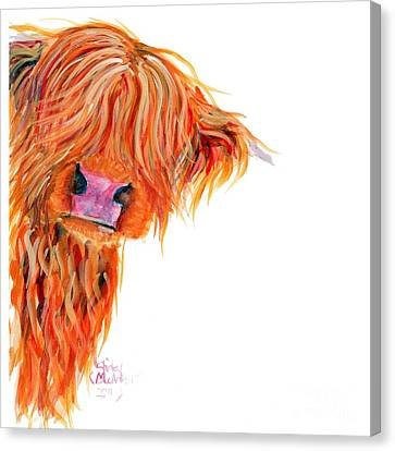 Highland Cow Peekaboo Canvas Print by Shirley MacArthur