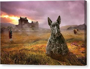 Scottish Dog Canvas Print - Highland Heritage by Susan Carter