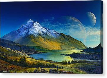 Highland Home Canvas Print by David Jackson