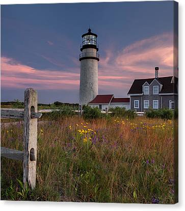 Cape Cod Scenery Canvas Print - Highland Light 2015 Square by Bill Wakeley