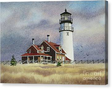 Highland Light View Canvas Print by Karol Wyckoff