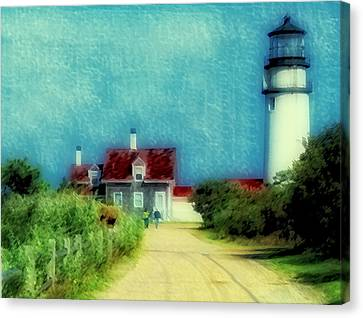 Highland Lighthouse II Canvas Print by Gina Cormier